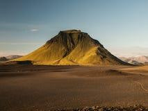 Green hill. On Laugavegur trek (Iceland Royalty Free Stock Images