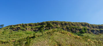 Green hill panorama view Royalty Free Stock Photos