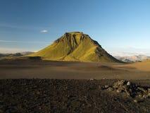 Green hill. Green rocky hill on Laugavegur trek (Iceland Royalty Free Stock Photo