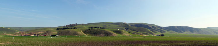 Green Hill in southern California. Green Hill. Panoramic hill landscape Royalty Free Stock Images