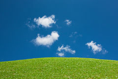 Green Hill View Blue Sky Royalty Free Stock Photo