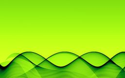 Green hills. Abstract background with green shiny waves Stock Photography