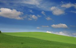 Green hills. And blue sky Stock Photography