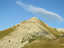 Green hills of Apennine Mountain Range in summer Royalty Free Stock Photo