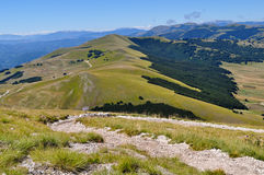 Green hills of the  Apennines Royalty Free Stock Photography