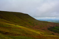 Green hills in Brecon Beacons National Park, Wales, UK Stock Images