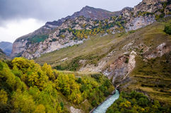Green hills in the Chegem gorge. In Kabardino-Balkaria Stock Photos