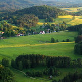 Green Hills and Fields Stock Photography