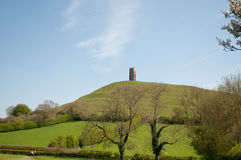 Green hills of glastonbury Royalty Free Stock Photography
