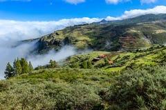 Green hills of Gran Canaria. Spain. Green hills near Tejeda, Central Gran Canaria royalty free stock photo