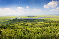 Green hills and lakes, panorama, Primorye, russia Royalty Free Stock Image