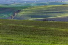 Green hills of Moravia. Czech Republic Royalty Free Stock Photos