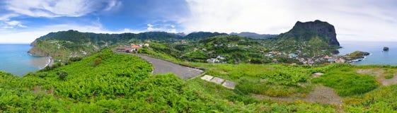 Green hills near Porto da Cruz, Madeira island - Portugal Stock Images