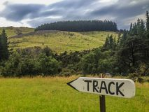 Scenic landscape on the track to Washpen Falls, South Island, New Zealand royalty free stock photography