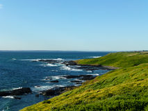 Green Hills Ocean stock photo