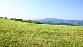 Zarauz, Pais Vasco, Spain. Green hills of Pais Vasco, Spain stock video footage