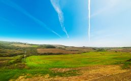 Green hills in Tuscany Stock Photos