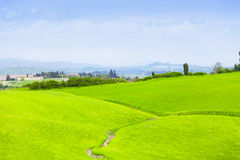 Green hills of Tuscany Royalty Free Stock Photo