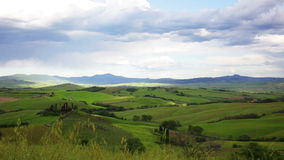 Green hills of Tuscany, Italy stock footage