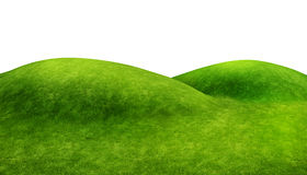 Green hills on white Stock Image