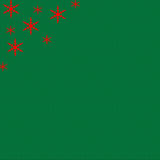 Green Holiday Background with Red Stars Royalty Free Stock Images