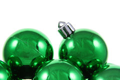 Green Holiday Baubles Stock Photos