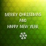 Green holiday card Royalty Free Stock Image