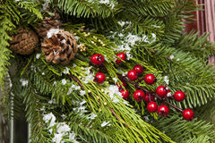 Green Holiday Christmas Decoration Stock Photography