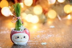 Green; Holiday; Christmas; Grass; Decoration; Winter; Background Royalty Free Stock Image