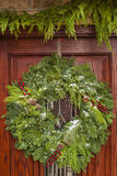 Green Holiday Christmas Wreath Stock Photography