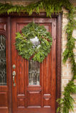 Green Holiday Christmas Wreath Stock Photo