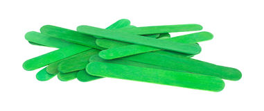 Green holiday craft sticks stock photos