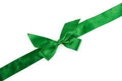 Green holiday ribbon Stock Images