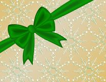 Green Holiday Ribbon Bow Stock Photos