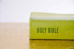 Green Holy bible Stock Photography