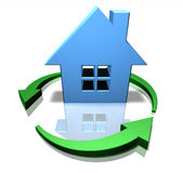 Green home Royalty Free Stock Photo