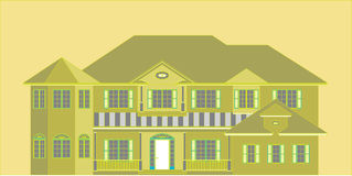 Green Home. Green house illustration that uses less energy, water and natural resources; creates less waste; and is healthier and more comfortable for the Royalty Free Stock Photos