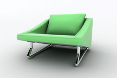 Green home armchair Royalty Free Stock Images