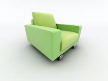 Green home armchair Royalty Free Stock Photos