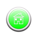 Green Home Button Stock Photos