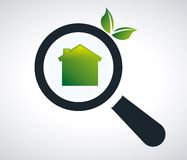 Green home Stock Photography