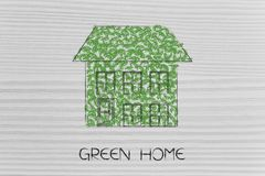 House made of leaves. Green home and ecology concept: house made of leaves Royalty Free Stock Photo