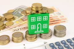 Green Home Finance Royalty Free Stock Images