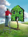 Green home Stock Photos