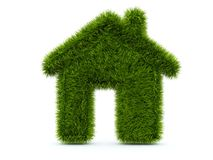 Green home from grass Royalty Free Stock Photography