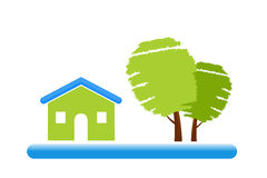Green Home Icon Stock Photo