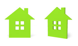 Green home icon Royalty Free Stock Photos