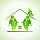 Green home icon Royalty Free Stock Images