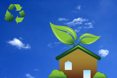 Green Home Royalty Free Stock Image
