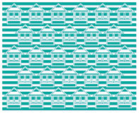 Green home pattern Royalty Free Stock Photos